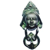 Desiner Lady Face Door Knocker In Antique Green Finish By Aakrati