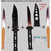 Travel Knife Combo Set Of 2 With Protective Cover And 2 Slim Knifes