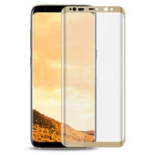 Hathot Samsung Galaxy S8 0.3 Mm Color Flexible Tempered Glass(Golden)