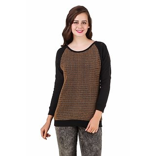 Texco Brown & Black Sweatshirt