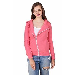 Texco Hooded Full Sleeve Pink Winter Jacket