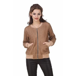 Texco Beige Lace Bomber Winter Jacket
