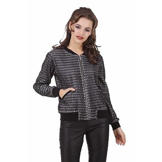 Texco Black Lace Bomber Winter Jacket