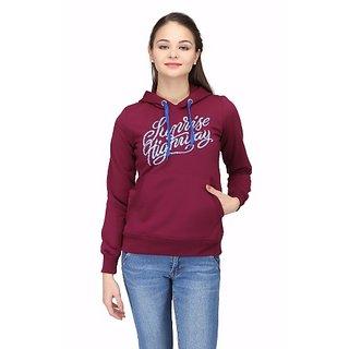 Be-Beu Purple Fleece Hooded Sweatshirt
