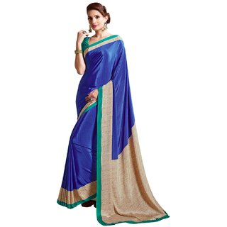 3e0eb94a294 Buy Ligalz Blue Crepe Printed Saree Online   ₹899 from ShopClues