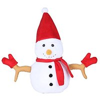 Ultra Christmas Snowman 13 Inches Soft Toy White