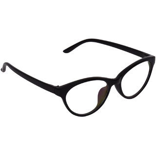 Aligatorr Stylish Cat Eye Spectacle Frame and UV400 Sunglass
