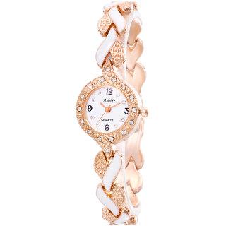 Addic An-Elegant-Persona Rose Gold  White Girls  Women's Watch