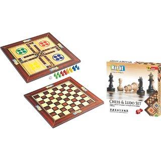 Kirat Wooden Chess Ludo Box Packing By Krasa