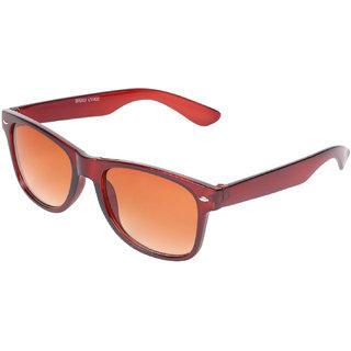 Aligatorr Stylish Brown Unisex UV400 Wayfarer Sunglass