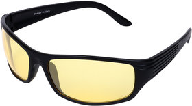 Aligatorr Night Drive Yellow Unisex UV400 Sports Sunglass