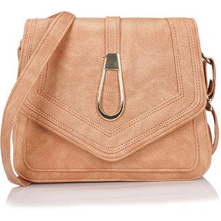 KLEIO Peach Solid Sling Bag
