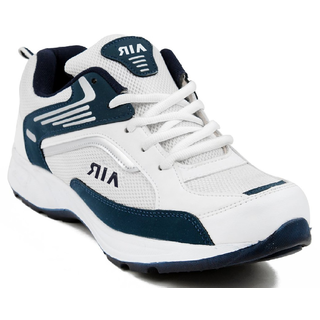 Clymb Men's Blue  White Running Shoes