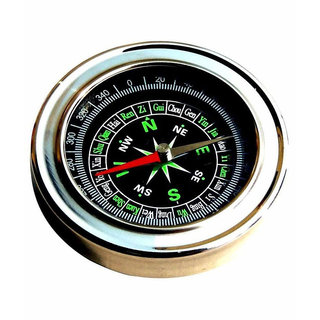 Stainless Steel Directional Magnetic Compass Round Shape