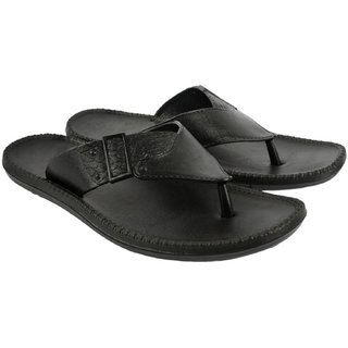 DzVR Men's And Boy's Black Light Sandal Look Slippers And Flip Flops