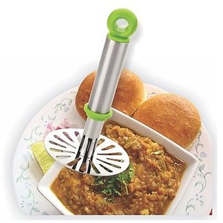 High Quality Virgin Plastic Handle Stainless Steel Boiled Potato And Vegetable Pav Bhaji Masher