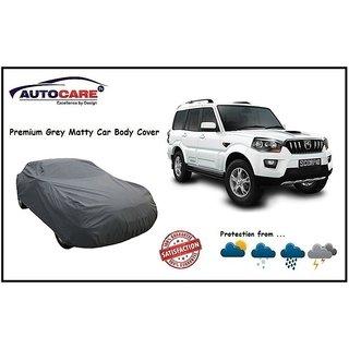 De AutoCare Grey Matty Car Body Cover For Mahindra Scorpio