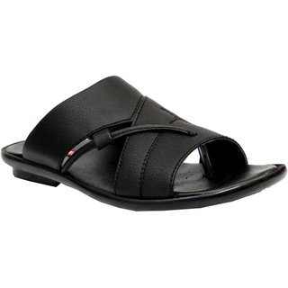 Lavista Men's Black Synthetic Leather Casual Sillper