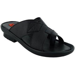 Lavista Black Synthetic Leather Slip on Casual Sillper