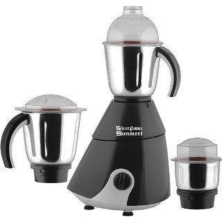 SilentPowerSunmeet Black Color 800Watts Mixer Juicer Grinder with 3 Jar (1 Large Jar 1 Medium Jar and 1 Chuntey Jar)