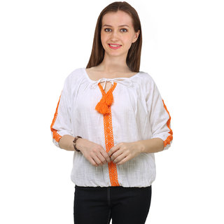 da30945c7baec Buy Jollify Casual 3 4th Sleeve Embroidered Women s Top Online - Get 71% Off