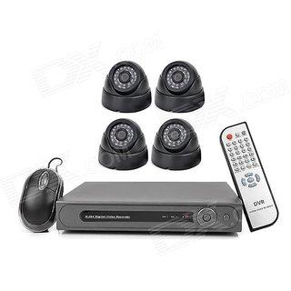 CCTV CAMERA HD KIT 8CH DVR + 4PC DOME CAMERA 2mp