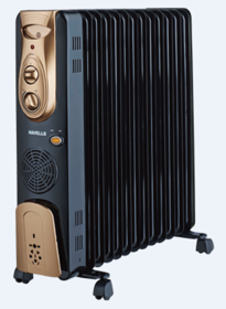 Havells OFR 13 Fin With PTC Fan Heater Oil Filled Radiator (Golden  Black)