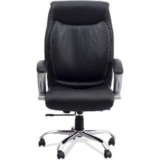 Fabsy Interiors High Back Executive Revolving Chair in Black