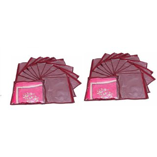 DIMONSIV Plain Pack Of 24 Saree Cover Keep 1 each  (Maroon)