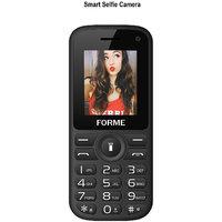 Forme N5+ (Black+Red) (Selfie Camera,Wireless FM,1.8 In