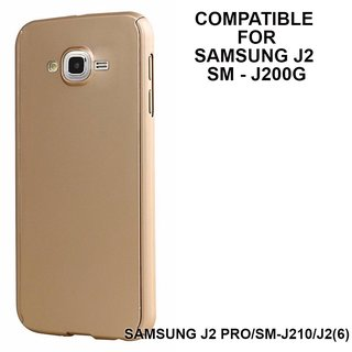 MOBIMON 360 Degree Full Body Protection Front Back Cover iPaky Style with Tempered Glass for Samsung J2-GOLD