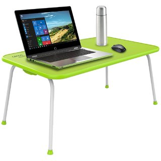 Gizga Essentials Multipurpose Table - Laptop Table Bed Table Premium Quality Foldable with Patented Hinges (Neon Green)