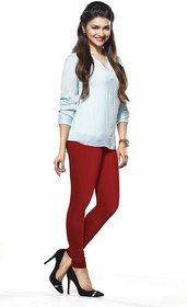 ZOYA COLLECTION LEGGING 06 RED COTTON LYCRA