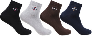 Men's Ankle Length Socks Embroidered With Bonjour Logo