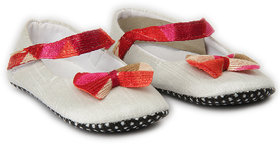 Pikaboo White Red Royal Shoes For Girl (0-6 Months)