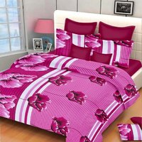 SYK Pure Cotton Double Bed Sheet, Bedsheets with 2 Pillow Covers (SYKCTN044)