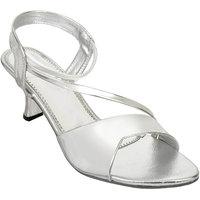 Altek Stylish Silver Patent Heel For Women (foot-A13209