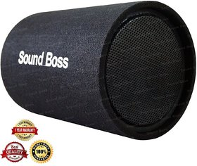 SoundBoss SBBT-10X20 10-Inch 500w Powered Subwoofer Bass Tube with In-Built Amplifier