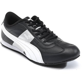 Puma Esito Men's Black and Silver Sports Shoes