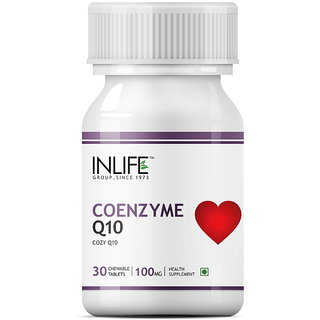 INLIFE Coenzyme Q10, 300mg 30 Chewable Tabs Fertility Supplement For Male Female