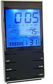 Digital Weather Station Hygrometer Thermometer Alarm Clock Table Desk 21