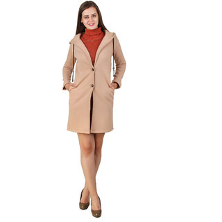 Texco Beige Solid Over coat