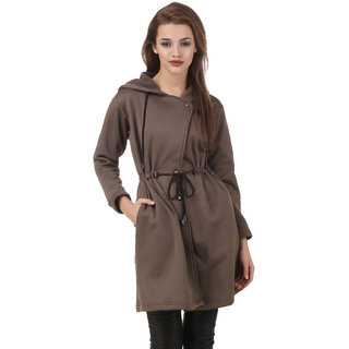 Texco Brown Self Design Over coat