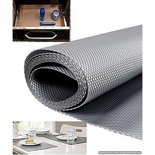 Skywalk Multipurpose Anti-slip Eva Mat-For Fridge Shelf Liner etc. Size 45x125 Cm(color Silver Grey)