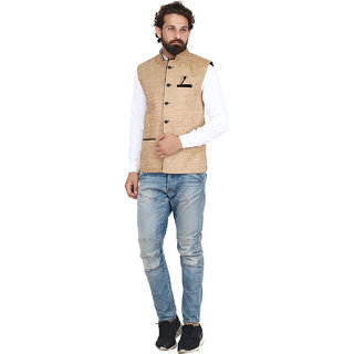 Akaas Men's Brown Solid Jackets