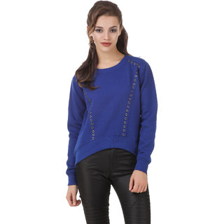 Texco Blue Non Hooded Sweatshirt for Women