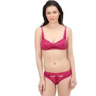 44e418106a Buy Elina Pink Self Design Lingerie set Online - Get 60% Off