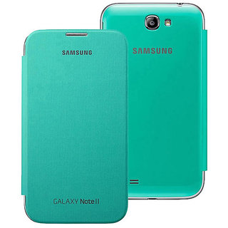 SUPER FINISH LEATHER FLIP DIARY CASE COVER FOR SAMSUNG GALAXY NOTE 2 N7100- mint green