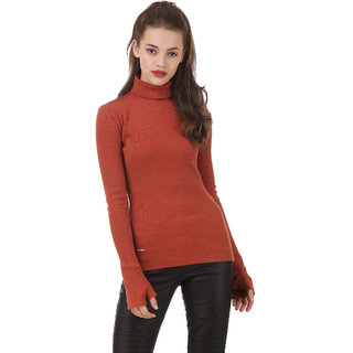 Texco Tan Non Hooded Sweatshirt for Women