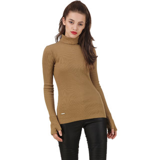Texco Olive Non Hooded Sweatshirt for Women